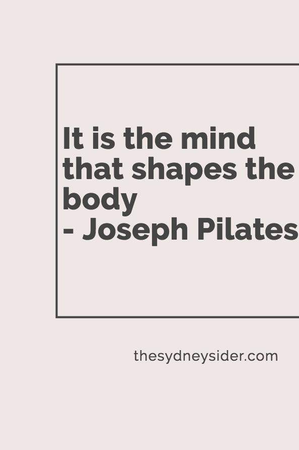pilates fitness quote mental health