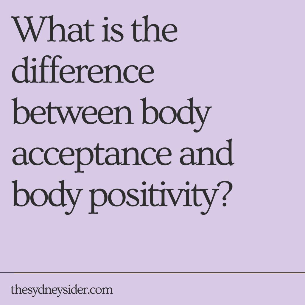 body acceptance body positivity