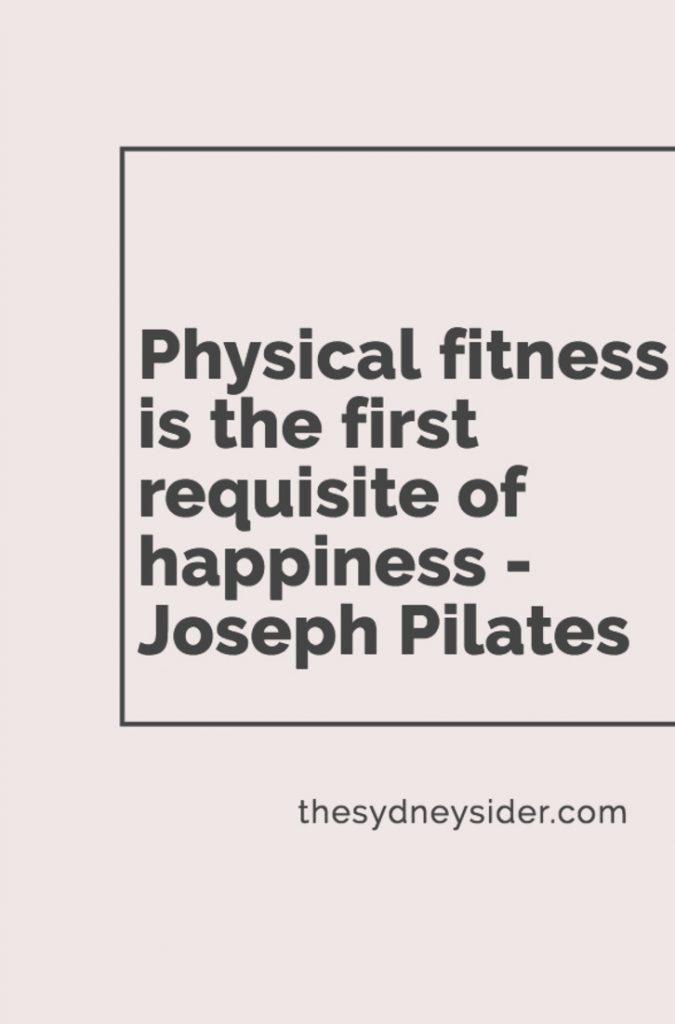 pilates fitness quote