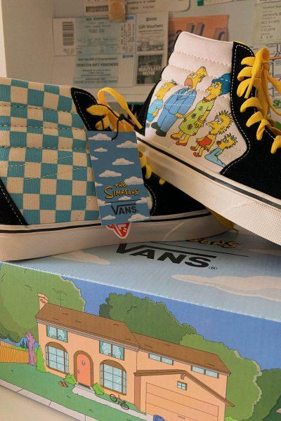 the simpsons vans checkerboard shoe sneaker 2020