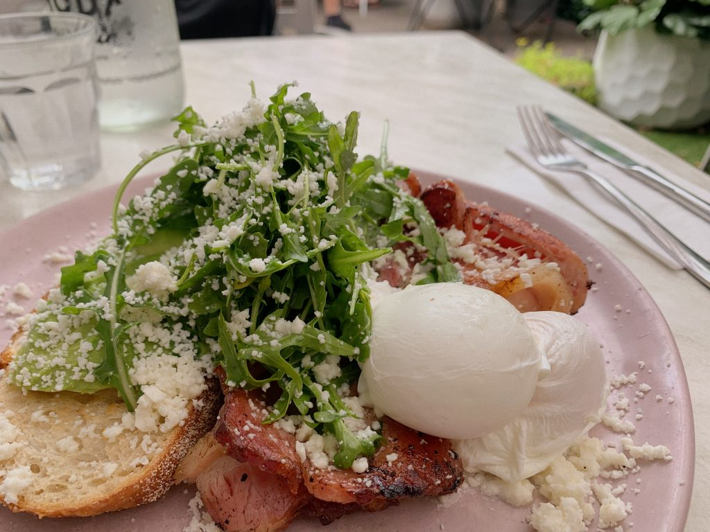 cafe sydney brunch avo poached eggs bacon sourdough food foodie