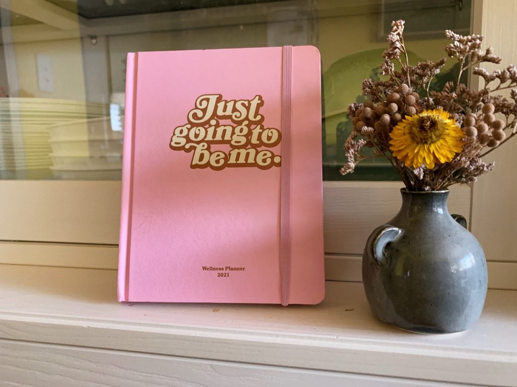 typo cotton on wellness journal planner diary 2021 pink