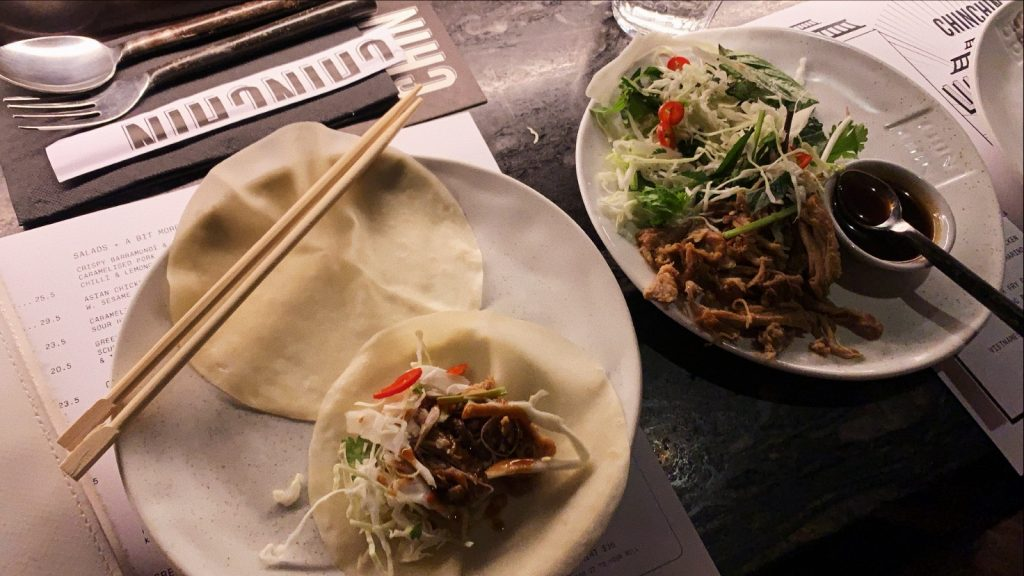 chin chin pulled pork pancakes asian hoisin sauce sydney melbourne