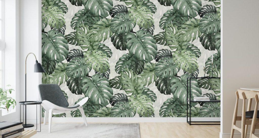 botany leaf nature wallpaper photowall minimalist