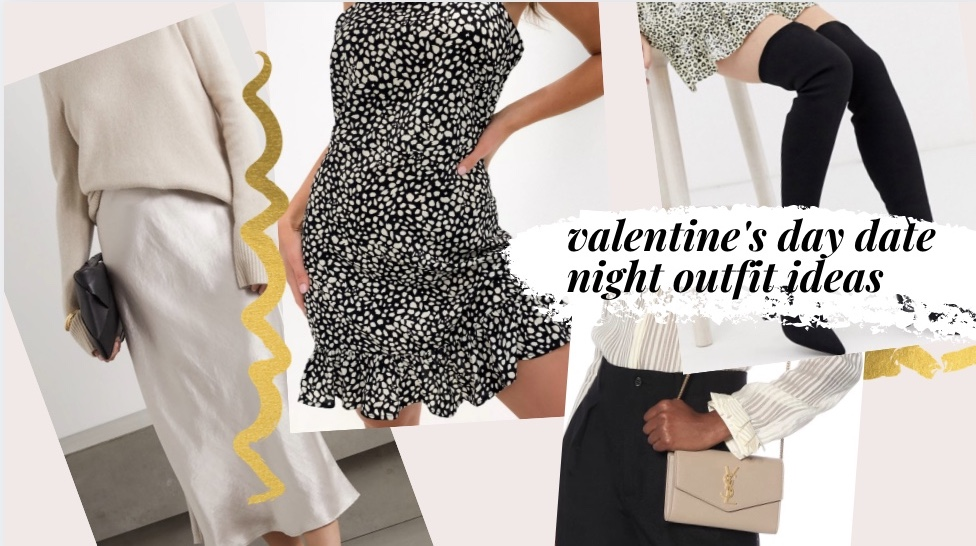 valentine's day date night outfit ideas glam satin silk skirts boots ysl chanel gucci polka dot missguided asos max mara revolve nordstrom