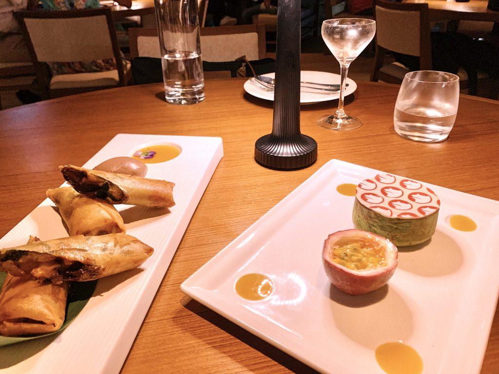 nobu sydney crown melbourne london los angeles chicago hong kong dinner dessert matcha fondant banana harumaki