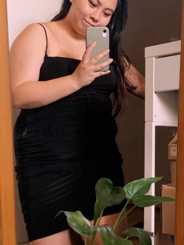 femme luxe clubbing nightwear bodycon ruched mini dress taylor black bodysuit
