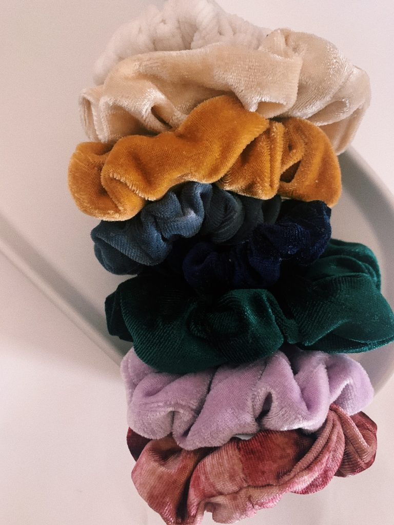 scrunchies velvet indie urban outfitters