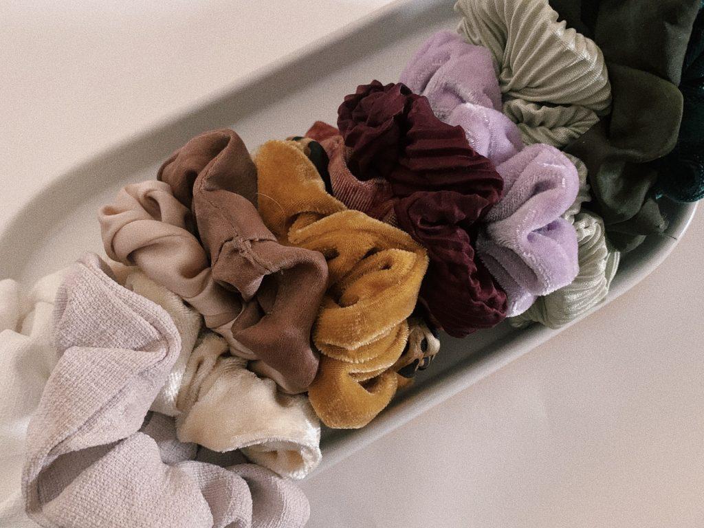velvet scrunchies collection