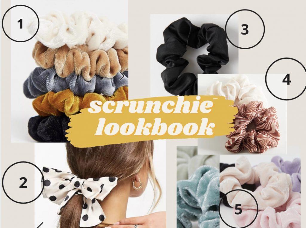 scrunchies lookbook asos urban outfitters h&m vsco indie tiktok